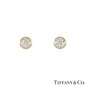Tiffany & Co. Yellow Gold Elsa Peretti Earrings 1.14ct TDW